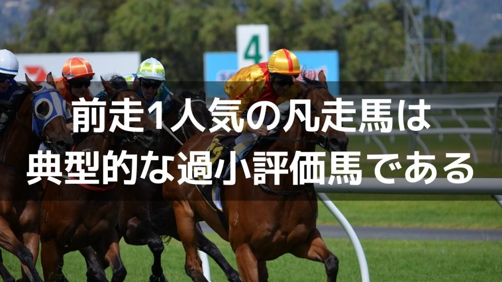 【前走1番人気の勝率と回収率】前走1人気の凡走馬は、典型的な過小評価馬である