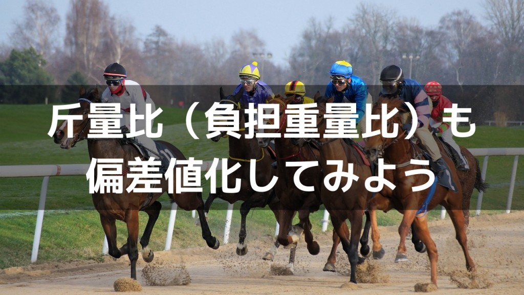 【前走馬体重の勝率と回収率】偏差値化してレース内での相対的な強さを反映させる