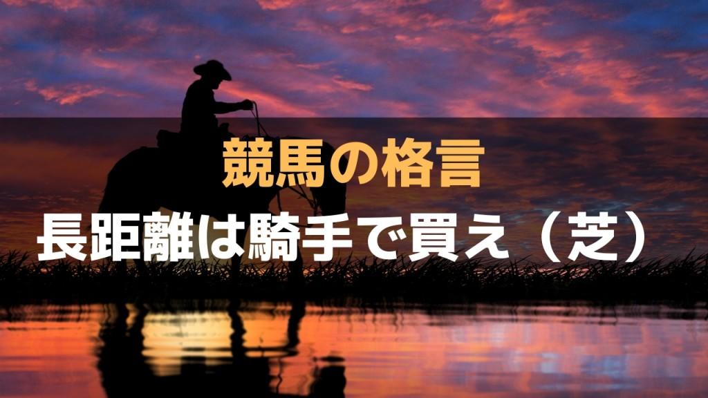【競馬の格言】「長距離は騎手で買え」長距離がうまい騎手は回収率が高い(芝編)